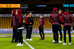 Mohamed Salah, Dejan Lovren, James Milner and their teammates arrive at Molineux for the FA Cup tie against Wolverhampton Wanderers - Mandatory by-line: Robbie Stephenson/JMP - 07/01/2019 - FOOTBALL - Molineux - Wolverhampton, England - Wolverhampton Wanderers v Liverpool - Emirates FA Cup third round proper