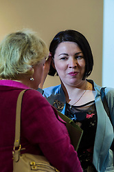 Pictured: Monica Lennon (Labour)<br /> <br /> Candidates from the five main parties faced questions at the Building Scotland's Future election hustings today. The panalists, Kath Gordon (Lib Dem), Marco Biagi (SNP), Monica Lennon (Labour), Ian McGill (Conservatives) and Maggie Chapman (Co-convenor of the Scottish Greens) were quizzed on issued affecting infrastructure and the build environment.  <br /> <br /> Ger Harley   EEm 19 April 2016