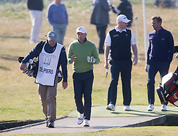 Alessandro Del Piero and Andriy Shevchenko. Players art the 18th, Alfred Dunhill Links Championship at the Championship Course at Carnoustie.