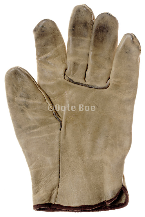 used but still clean leather workers and gardening glove