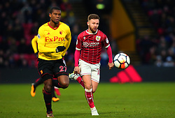 Matty Taylor of Bristol City takes on Christian Kabasele of Watford - Mandatory by-line: Robbie Stephenson/JMP - 06/01/2018 - FOOTBALL - Vicarage Road - Watford, England - Watford v Bristol City - Emirates FA Cup third round proper
