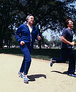 H.E.W Secretary Joe Califano jogging on the mall.  This was a picture for TIME magazine and probably one of the few times that Califano jogged on the mall.<br />Photo by Dennis Brack