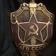 A badge worn by officers of Russia's notorious KGB, the secret service of the USSR.