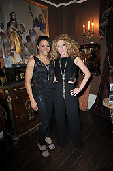 Left to right, DAME KELLY HOLMES and KELLY HOPPEN at a party to celebrate the publication of her new book - Kelly Hoppen: Ideas, held at Beach Blanket Babylon, 45 Ledbury Road, London W11 on 4th April 2011.