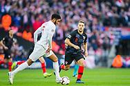Joe Gomez (England) & Mateo Kovačić (Croatia) during the UEFA Nations League match between England and Croatia at Wembley Stadium, London, England on 18 November 2018.