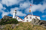 Lobster cove head lighthouse in the Unesco world heritage sight, Gros Mourne National Park, Newfoundland, Canada