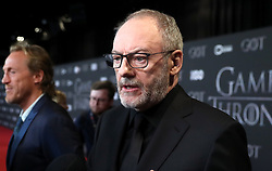 Liam Cunningham attending the Game of Thrones Premiere, held at Waterfront Hall, Belfast.