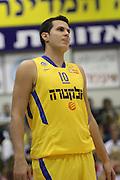 Maccabi Tel Aviv Basketball team (Yellow) Playing Hapoel Gilboa-Galil (Red) on October 16th 2011. Final result Maccabi 95 Hapoel 60 Guy Pnini