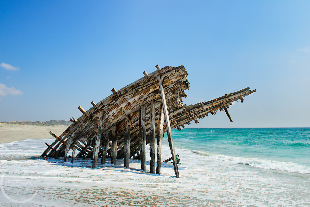 ship wreck on the cost of Masirah