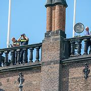 NLD/Den Haag/20180831 - Koninklijke Willems orde voor vlieger Roy de Ruiter, uitkijkposten overzien het Binnenhof