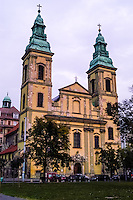 Budapest, Hungary.  The Inner City Parish Church, or Belvárosi Plebaniatemplom.