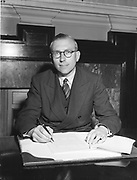 Mr Thomas K. Whitaker, new Secretary of the Department of Finance.<br />