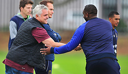 Cape Town--180329 Cape Town City chairman John  Comitis greeting coach Bennie McCarthy at training while preparing for their Nedbank Cup game against Sundowns on sunday  .Photographer;Phando Jikelo/African News Agency/ANA