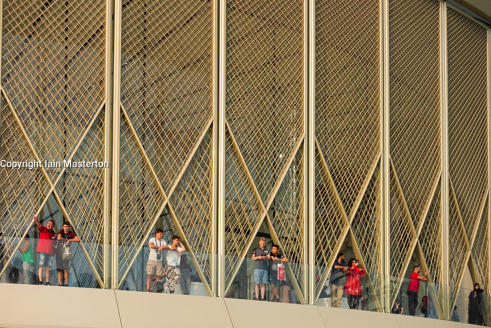 Exterior of the Apple Store at Dubai Mall in Dubai, United Arab Emirates.