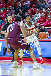 NORMAL, IL - January 07: Antonio Reeves starts his drive to the bucket defended by Isiaih Mosley during a college basketball game between the ISU Redbirds and the University of Missouri State Bears on January 07 2020 at Redbird Arena in Normal, IL. (Photo by Alan Look)