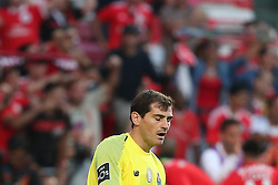 October 7, 2018 - Lisbon, Portugal - Porto's Spanish goalkeeper Iker Casillas reacts after Benfica's Suisse forward Haris Seferovic scores during the Portuguese League football match SL Benfica vs FC Porto at the Luz stadium in Lisbon on October 7, 2018. (Credit Image: © Pedro Fiuza/NurPhoto/ZUMA Press)