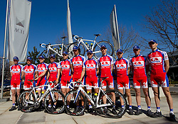 Group photo at press conference of Pro Cycling Team Adria Mobil Novo mesto before new season, on March 8, 2011 at ACH, Ljubljana, Slovenia. (Photo By Vid Ponikvar / Sportida.com)