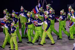 09-02-2018 KOR: Olympic Games day -1, PyeongChang<br /> Openingsceremonie Pyeongchang 2018 Olympic Winter Games / Slovenie