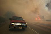 A wildfire burns along the Placenta Canyon Road in Santa Clarita, Calif., Sunday, July 24, 2016.(AP Photo/Ringo H.W. Chiu)