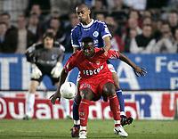 Fotball<br /> Frankrike 2003/04<br /> Strasbourg v Monaco<br /> 12. mai 2004<br /> Foto: Digitalsport<br /> NORWAY ONLY<br /> <br /> SHABANI NONDA (MON) / CEDRIC KANTE (STR)