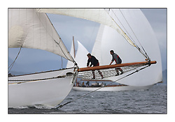 The final day of racing of the Fife Regatta on the King's Course North of Great Cumbrae<br /> <br /> Kentra, E & D Klaus, GBR, Gaff Ketch, Wm Fife 3rd, 1923<br /> <br /> * The William Fife designed Yachts return to the birthplace of these historic yachts, the Scotland's pre-eminent yacht designer and builder for the 4th Fife Regatta on the Clyde 28th June–5th July 2013<br /> <br /> More information is available on the website: www.fiferegatta.com
