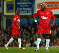 Fotball<br /> England 2004/2005<br /> Foto: SBI/Digitalsport<br /> NORWAY ONLY<br /> <br /> Portsmouth v Liverpool<br /> FA Barclays Premiership<br /> 20/04/2005<br /> <br /> Liverpool's Djibril Cisse, who came on as a second half sub.