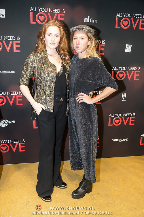 NLD/Amsterdam/20181126 - premiere All You Need Is Love, Britte Lagcher en .....