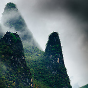 The karst limestone peaks of the Yangshao region of China.