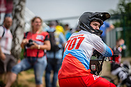 #707 (KOMAROV Evgeny) RUS during practice at Round 5 of the 2018 UCI BMX Superscross World Cup in Zolder, Belgium