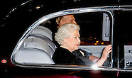 HM the Queen Elisabeth and Prince Philip arrival to the Festival of Remembrance in the Royal Albert