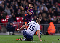 Football - 2018 / 2019 Premier League - Tottenham Hotspur vs. Manchester City<br /> <br /> Sergio Aguero (Manchester City) cries out as he is fouled by Eric Dier (Tottenham FC) at Wembley Stadium.<br /> <br /> COLORSPORT/DANIEL BEARHAM
