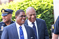 June 13, 2017 - Norristown, Pennsylvania, U.S - BILL COSBY, walks up to the court house in Montgomery County with his spokes person, ANDREW WYATT, on the second day of jury deliberations (Credit Image: © Ricky Fitchett via ZUMA Wire)