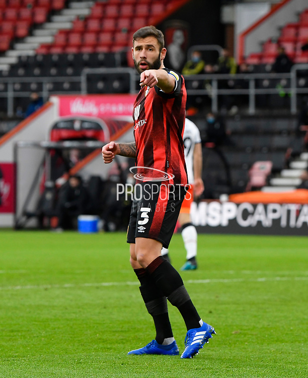 Steve Cook (3) of AFC Bournemouth gestures during the EFL Sky Bet Championship match between Bournemouth and Luton Town at the Vitality Stadium, Bournemouth, England on 16 January 2021.