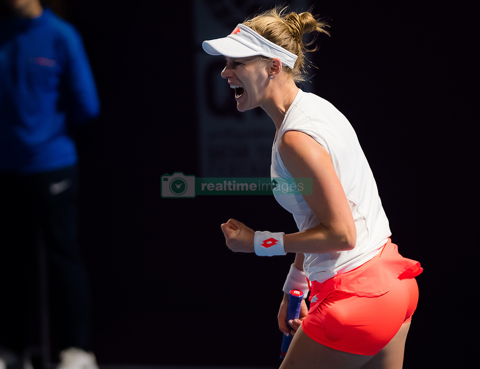 February 13, 2019 - Doha, QATAR - Alison Riske of the United States in action during the second round at the 2019 Qatar Total Open WTA Premier tennis tournament (Credit Image: © AFP7 via ZUMA Wire)