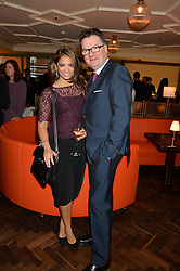 KATY WICKREMESINGHE and EWAN VENTERS at a party hosted by Pace Gallery as part of Frieze 2015 held at 45 Jermyn Street, London on 15th October 2015.