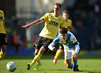 Blackburn Rovers' John Buckley is fouled by Millwall's Jed Wallace<br /> <br /> Photographer Kevin Barnes/CameraSport<br /> <br /> The EFL Sky Bet Championship - Blackburn Rovers v Millwall - Saturday September 14th 2019 - Ewood Park - Blackburn<br /> <br /> World Copyright © 2019 CameraSport. All rights reserved. 43 Linden Ave. Countesthorpe. Leicester. England. LE8 5PG - Tel: +44 (0) 116 277 4147 - admin@camerasport.com - www.camerasport.com