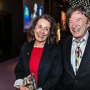 NLD/Hilversum//20170306 - uitreiking Buma Awards 2017, Laurens van Rooyen en partner Ina Brouwer