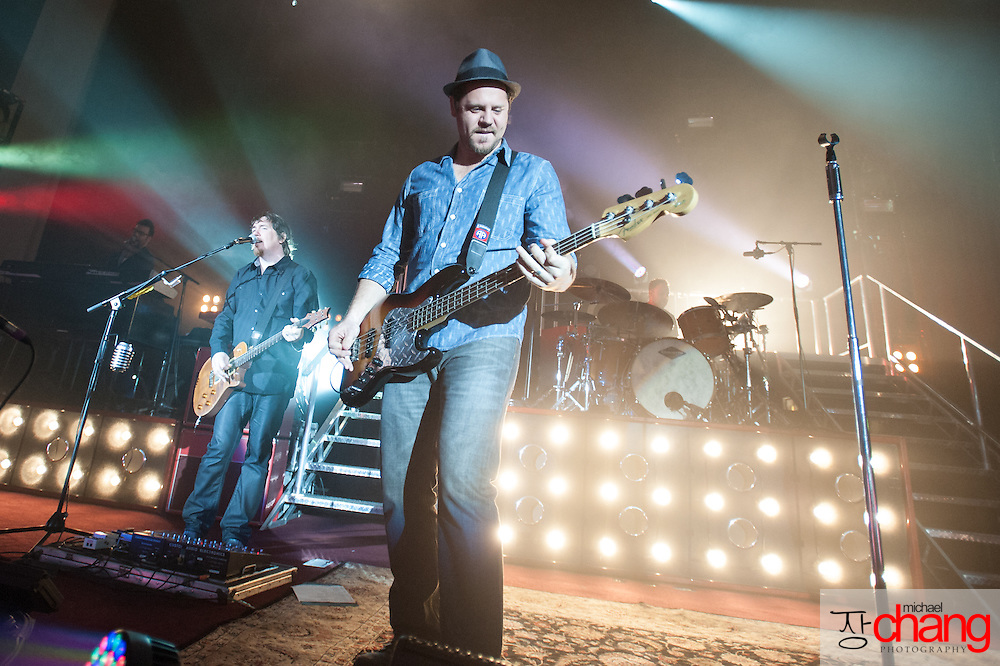 MOBILE, AL - MARCH 16:  Third Day performs during The Miracle Tour at Cottage Hill Baptist Church on March 16, 2013 in Mobile, Alabama.  (Photo by Michael Chang/Getty Images)