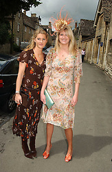 Left to right, sisters LADY MARIA BALFOUR and LADY KINVARA BALFOUR at the wedding of Hugh van Cutsem to Rose Astor in Burford, Oxfordshire on 4th June 2005.<br /><br />NON EXCLUSIVE - WORLD RIGHTS