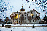 Snow at the State House in Columbia, SC, by photographer Jeff Blake, www.JeffBlakePhoto.com
