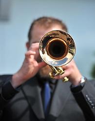 Jazz musician Cameron Jay at the launch of the 2016 Edinburgh Jazz & Blues Festival.<br /> <br /> © Dave Johnston/ EEm
