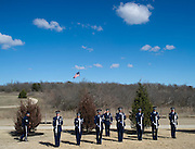 Members of the Honor Guard practice before the funeral service for Army Pfc. Weldon Alonzo Davis, a Korean War soldier who died as a POW in 1951, at the Dallas-Fort Worth National Cemetery on Wednesday, February 6, 2013 in Dallas, Texas. (Cooper Neill/The Dallas Morning News)