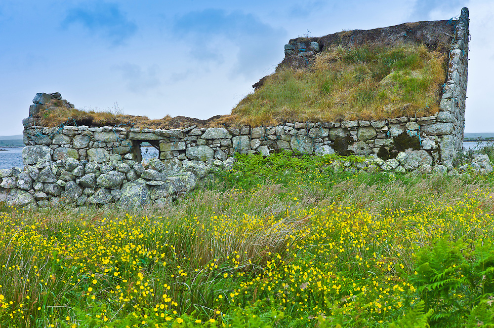 Derelict old stone cottage with development potential, Connemara, County Galway, Ireland