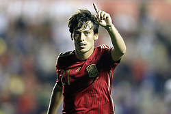 08.09.2014, Estadi Ciutat de Valencia, Valencia, ESP, UEFA Euro 2016 Qualifikation, Spanien vs Mazedonien, Gruppe C, im Bild Spain's David Jimenez Silva celebrates goal // during the UEFA EURO 2016 Qualifier group D match between Spain and Macedonia at the Estadi Ciutat de Valencia in Valencia, Spain on 2014/09/08.<br /> <br /> *** NETHERLANDS ONLY ***
