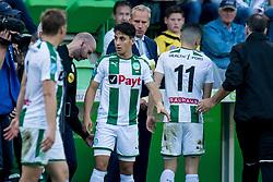 Ludovit Reis of FC Groningen during the Dutch Eredivisie match between FC Groningen and AZ Alkmaar at Noordlease stadium on October 15, 2017 in Groningen, The Netherlands
