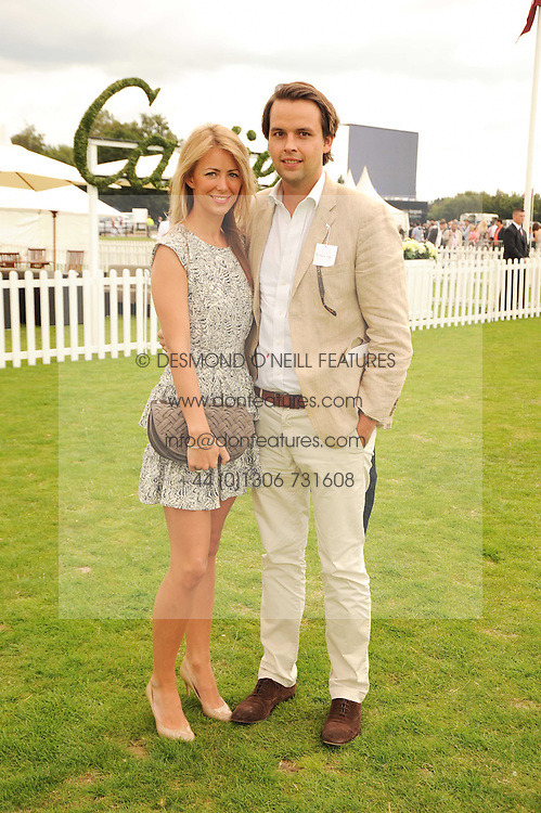 CHARLIE GILKES and ANNEKE VON TROTHA TAYLOR at the Cartier International Polo at Guards Polo Club, Windsor Great Park, Berkshire on 25th July 2010.