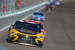 November 19, 2017 - Homestead, Florida, United States of America - November 19, 2017 - Homestead, Florida, USA: Matt Kenseth (20) battles for position during the Ford EcoBoost 400 at Homestead-Miami Speedway in Homestead, Florida. (Credit Image: © Justin R. Noe Asp Inc/ASP via ZUMA Wire)