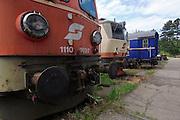 Strasshof, Austria.<br /> Triebwagentage (railcar days) at Das Heizhaus - Eisenbahnmuseum Strasshof, Lower Austria's newly designated competence center for railway museum activities.<br /> ÖBB 1110.023-7 electric locomotive (1956-1961, running until 2003.