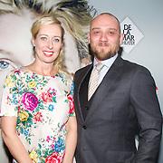 NLD/Amsterdam/20151115 - Premiere Toneelstuk Sophie, Plien van Bennekom en partner Jeroen Wassmer