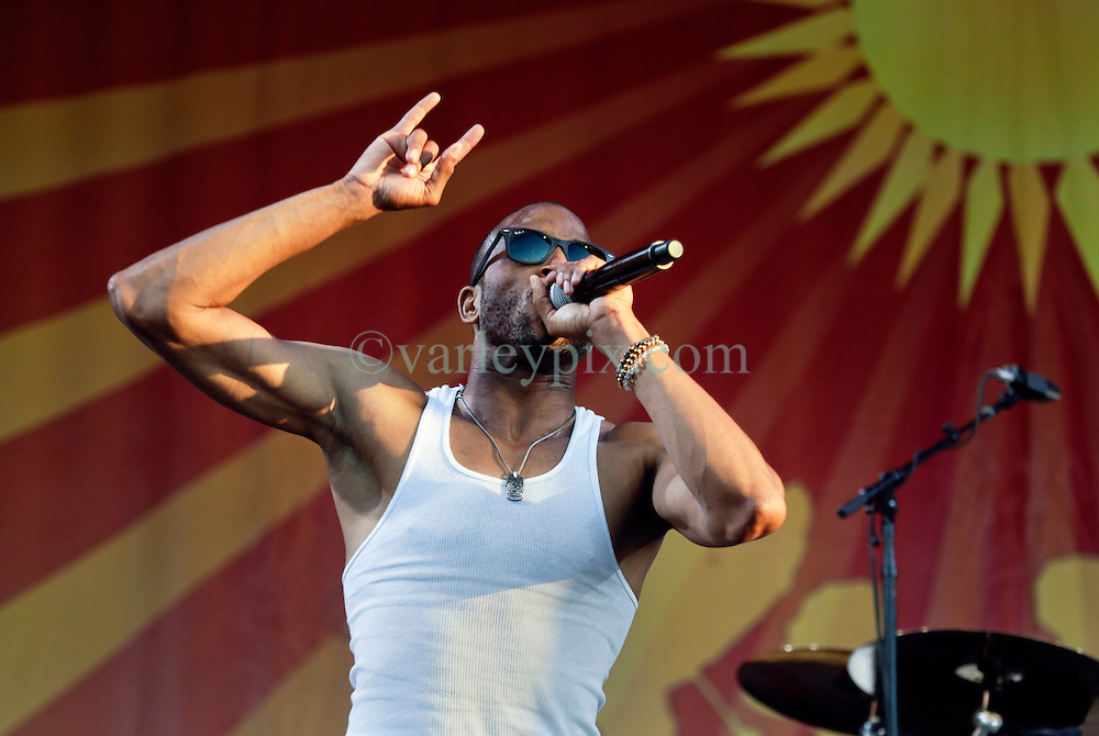 03 May 2015. New Orleans, Louisiana.<br /> The New Orleans Jazz and Heritage Festival. <br /> Troy 'Trombone' Shorty closes the festival on the Acura stage.<br /> Photo; Charlie Varley/varleypix.com